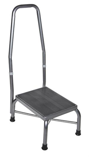 Foot Stool With Handrail 500 Pound Weight Capacity