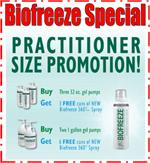 BIOFREEZE SPECIAL, Practitioner Size Promotion!