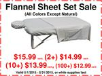 Deluxe Flannel Massage Sheet Set, SPECIAL: $15.99 each, (2+) $14.99 each, (10+) $13.99 each, (100+) $12.99 each (All colors except Natural)