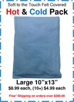 "Soft to the Touch Felt Covered Hot & Cold Pack, Large 10""x13"""